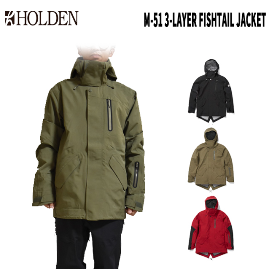 【HOLDEN】M's M-51 3-Layer Fishtail Jacket 19-20