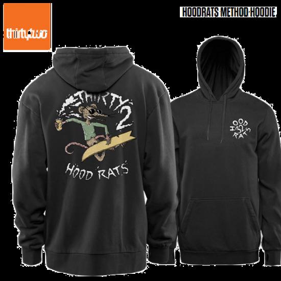 【THIRTYTWO】 THIRTYTWO HOOD RATS METHOD HOODIE