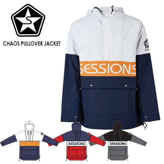 【SESSIONS】 CHAOS PULLOVER JACKET