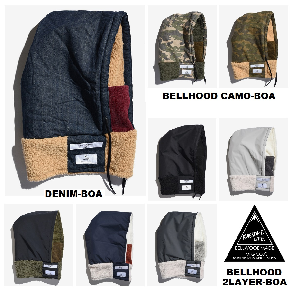 BELLWOOD MADE_商品04_BELLHOOD 2LAYER BOA